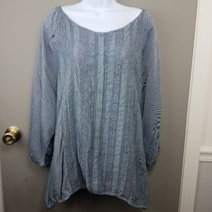 Plus size Lane Bryant chambray soft denim blouse